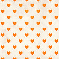 Seamless valentine background with hearts and paper texture Stock Image