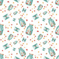 Seamless Valentine background. Tile love pattern. Vector illustrated endless sweet wrapping paper texture Royalty Free Stock Photo