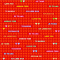 Seamless Valentine Day or romantic pattern Royalty Free Stock Photos
