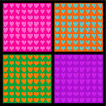 Seamless Valentine Day or romantic patterns Stock Photo