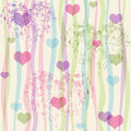 Seamless valentine pastel grunge pattern with translucent colorful strips and hearts vector eps Royalty Free Stock Photos