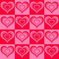Seamless valentine pattern Stock Photo
