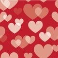 Seamless valentine pattern Stock Photography