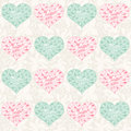 Seamless valentine pattern with hearts romantic vector illustration Stock Photography