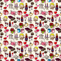 Seamless Valentine's Day pattern Royalty Free Stock Image