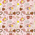 Seamless Valentine's Day pattern Stock Images