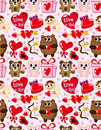 Seamless Valentine's Day pattern Stock Photos