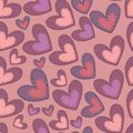 Seamless valentine s day pattern with hearts attached patches Stock Photos