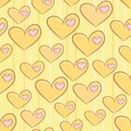 Seamless valentine s day pattern with hearts attached patches Royalty Free Stock Photography
