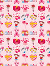 Seamless Valentines Day pattern Stock Image