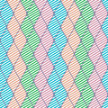 Seamless vector abstract pattern colorful symmetrical geometric repeating background with decorative rhombus series of Stock Photography