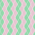 Seamless vector abstract pattern green and pink symmetrical geometric repeating background with decorative rhombus series of Stock Photography