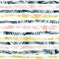 Seamless pattern with palm leaves. Tropical background. Vector illustration.