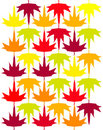 Seamless vector autumn maple background Stock Photography