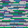 Seamless vector background of abstract colorful brick wall