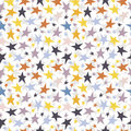Seamless vector background with colorful stars Royalty Free Stock Photo