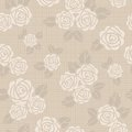 Seamless vector background with roses Royalty Free Stock Photography