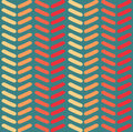 Seamless vector chevron pattern. Fashion zigzag pattern in retro colors, seamless vector background.