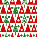 Seamless vector christmas pattern christmas trees winter geomet