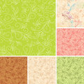 Seamless vector color patterns  with flora Stock Image