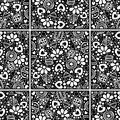 Seamless vector decorative hand drawn pattern. Royalty Free Stock Photo