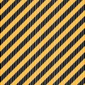 Seamless vector diagonal black and white stripes on yellow background.