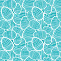 Seamless vector easter pattern with decorated turquoise egg stickers Royalty Free Stock Images