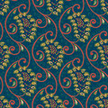 Seamless vector floral paisley pattern with background Stock Photos