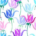 Seamless vector floral pattern. Beautiful vector hand drawn texture. Romantic botanical background for web pages
