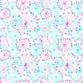 Seamless vector floral pattern. Colorful hand drawn background with abstract flowers.