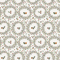 Seamless vector floral pattern of curved spring Royalty Free Stock Photo