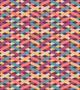 Seamless vector geometric pattern with colorful crosses. Endless zigzag abstract background. Royalty Free Stock Photo