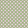 Seamless vector geometric pattern with flowers. Green and pink background with decorative ornament Royalty Free Stock Photo