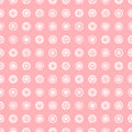Seamless vector geometrical pattern with circles pastel endless background with hand drawn textured geometric figures. Graphic ill