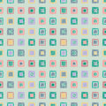 Seamless vector geometrical pattern with rhombus, squares. endless background with hand drawn textured geometric figures. Pastel G