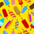 Seamless vector illustration of colorful ice cream summer time. Can be used and suitable for gift cards, banners, stickers,