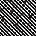 Seamless vector lined pattern. Creative geometric black and white background with diagonal lines.