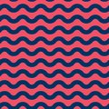 Seamless vector marine pattern with blue and red waves