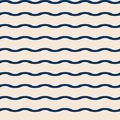Seamless vector marine pattern with blue waves