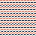 Seamless vector marine pattern with waves
