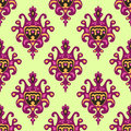 Seamless vector patterm damask motif Stock Photography