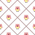 Seamless vector pattern with animals. Cute background with pink pigs on the white backdrop