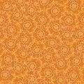 Seamless vector pattern background with floral shapes made with dots