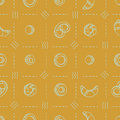 Seamless vector pattern with bakery products