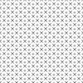 Seamless vector pattern. Black and white geometrical background with hand drawn circles and cross. Simple design