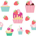 Seamless vector pattern cakes Royalty Free Stock Image