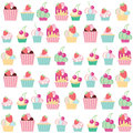 Seamless vector pattern cakes Stock Photos