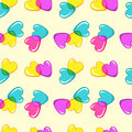 Seamless vector pattern with colorful candy hearts Stock Images