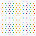 Seamless vector pattern with colorful polka dots