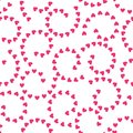 TRENDY TWISTED LOVE SEAMLESS VECTOR PATTERN. DIVERSE SYMBOL HEART GRUNGE ART TEXTURE. VALENTINES DAY BACKGROUND Royalty Free Stock Photo